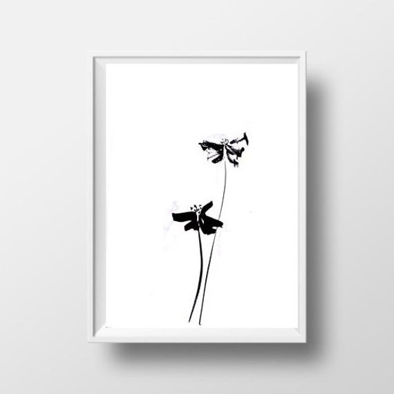 Flowers simple painting black white sumi e minimalist ink flowers simple painting black white sumi e minimalist ink drawing print flower wall art abstract lfloral home decor poster 4x6 5x7 decor mightylinksfo Choice Image