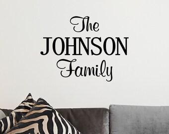 Custom Family Last Name Vinyl Decal - Family Vinyl Wall Art Decal, Last Name Vinyl, Personalized Vinyl, Home Decor, Living Room, 22x16.3