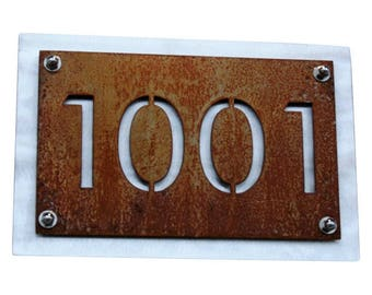 Rustic Address Number Plaque, Metal House Number Sign SMALL SIZES, Address Sign, Custom Address Number, Personalized Address