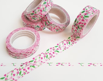 Pretty Pink and Green Floral Washi Tape Twin Pack