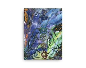 "Canvas print of painting  titled ""centered"" by Red Rose Grace"