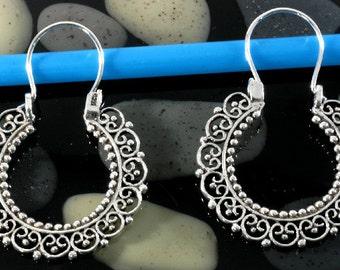 Oriental earrings in 925 sterling silver - 4043