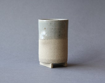 Footed Thumb Cup - Transparent Glaze