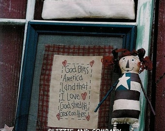 FoR THe BoYs - AMeRiCaNa DoLL - AMeRiCaNa PiN - AMeRiCaN FLaG - PDF ePattern - Primitive and Whimsical PaTTeRn