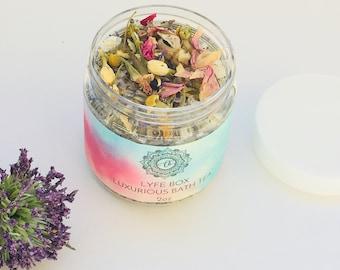Soothing Relaxing Bath Tea | Floral Soak| Resusable Muslin Tea | Dead Sea Salts