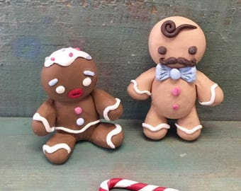 DIY Art Kit// Clay Gingerbread Man// Gifts// Polymer Clay