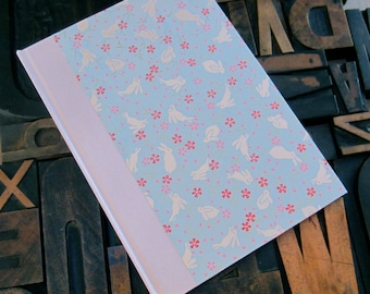 Baby Book with Blue Bunnies