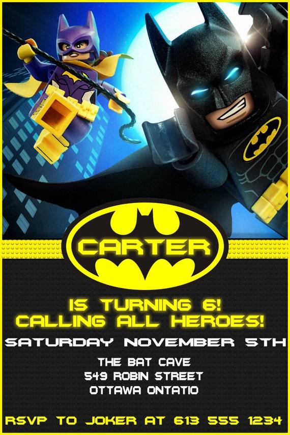 Lego Batman Birthday Invitation DIGITAL Free thank you