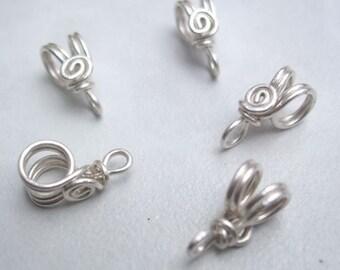 Handmade Sterling Silver filled Pendant Bails IV, PurpleLily Designs, SRA