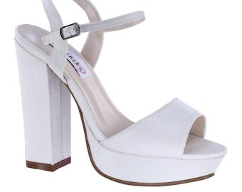 Wedding Shoes - Sandals Custom Dyed Wedding Shoes - Custom Bridal Shoes  High Heel Bridal Shoes -Wedding Heels Custom Shoes Wedding Sandals