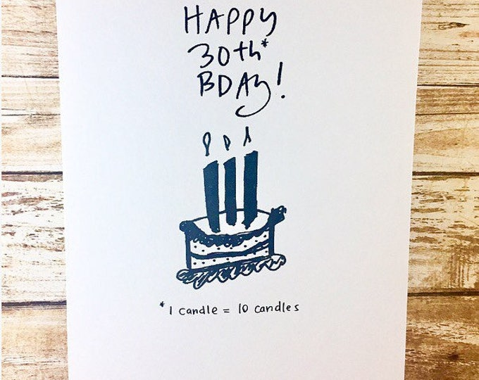 30th birthday for him card, funny 30th birthday card, 30th birthday bro, sidesandwich, 30th birthday card for brother, 30th birthday for him