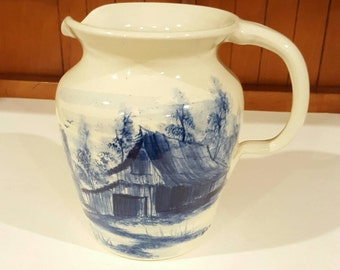 Casey Pottery Hand Turned Hand Painted Pitcher