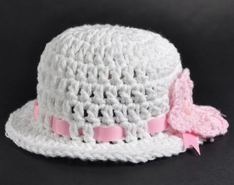Summer Cotton Hat for Babies in size Newborn, 3 to 6 months and 6 to 12 months