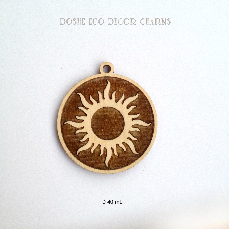 Bright laser engraved sun wood pendant laser cut wood sun zoom aloadofball Gallery