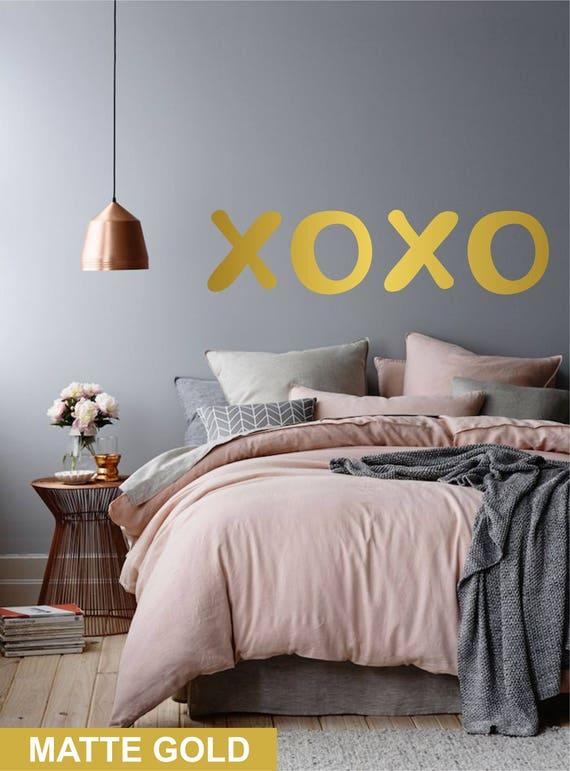 Xoxo lettres pop art muraux pour chambre à coucher salon bureau murs fantaisie murale décoration sticker idée pour les filles les adolescents