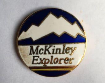 Vintage McKinley Explorer pin