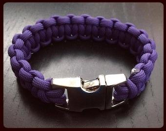 Purple Paracord Bracelet