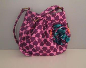 Small Shoulder Bag, Purple Crossbody Purse, Small Crossbody Bag, Messenger Bag, Adjustable Strap, Hobo Handbag