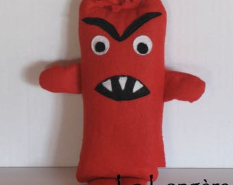 educational felt plushie