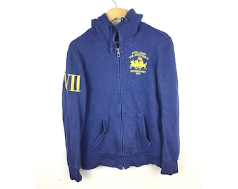 POLHAM The Justif Boston Sport 1630 Hoodies Medium Size With Big Spell Out Embroiled Logo