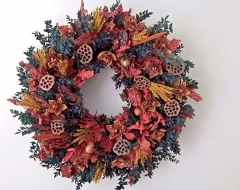 "27"" Gorgeous Fall Wreath - Winter Wreath - Wreath For Door - Hanging Wreath - Wow!!  THANKSGIVING WREATH"