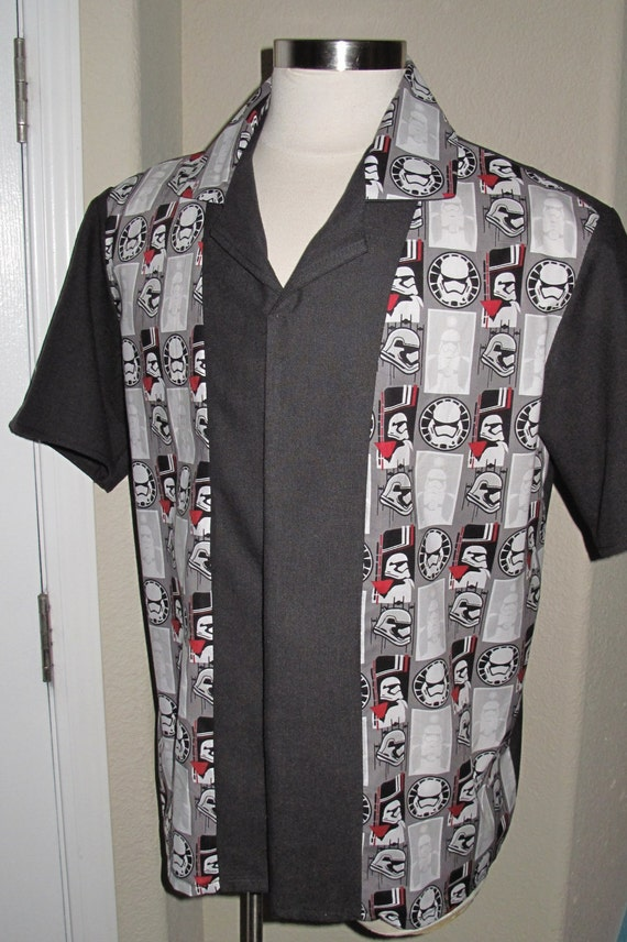 Storm trooper Men's bowling shirt in 10 sizes