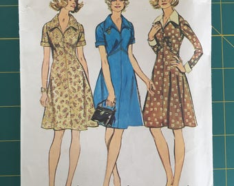 Vintage Sewing Pattern 1973 Simplicity Dress