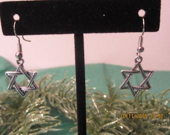 Star of David Earrings, Bat Mitzvah Gift, Silver Earrings, Hypoallergenic, Jewish Earrings, Hanukkah Earrings