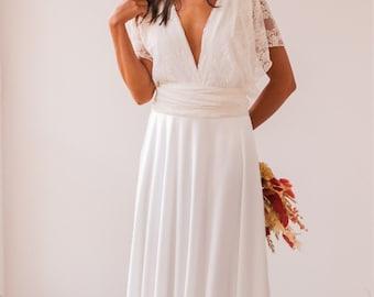 Romantic wedding dress, lace straps wedding dress, standard wedding dress, rustic bridal gown, romantic bridal gown, boho wedding dresses