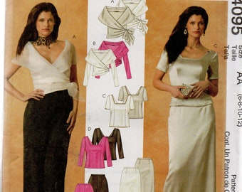 McCall's Evening Elegance Pattern 4095 TOPS SKIRTS PANTS Misses 6 8 10 12