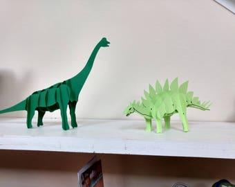 3D Paper Dinosaurs