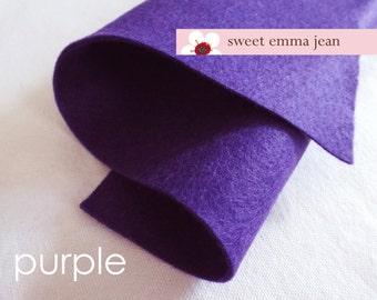 Wool Felt 1 yard cut - Purple - 50% wool blend felt