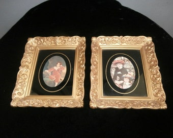 Wall Hanging's - Framed Sir Master Lambton & On the Terrace Renoir  Framed Pictures Print Vintage Set