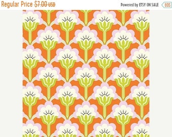 Summer Clearance Nicey Jane Slim Pop Blossom in Persimmon by Heather Bailey - 1 Yard