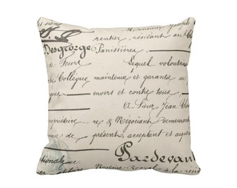 Decorative Throw Pillow Decorative Pillow Cover Black Pillow Cover French Script Pillow Parisian Decor French Decor Pretty Little Liars