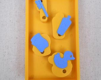 Sizzix Original Yellow Die Doll Bath Accessories Destash