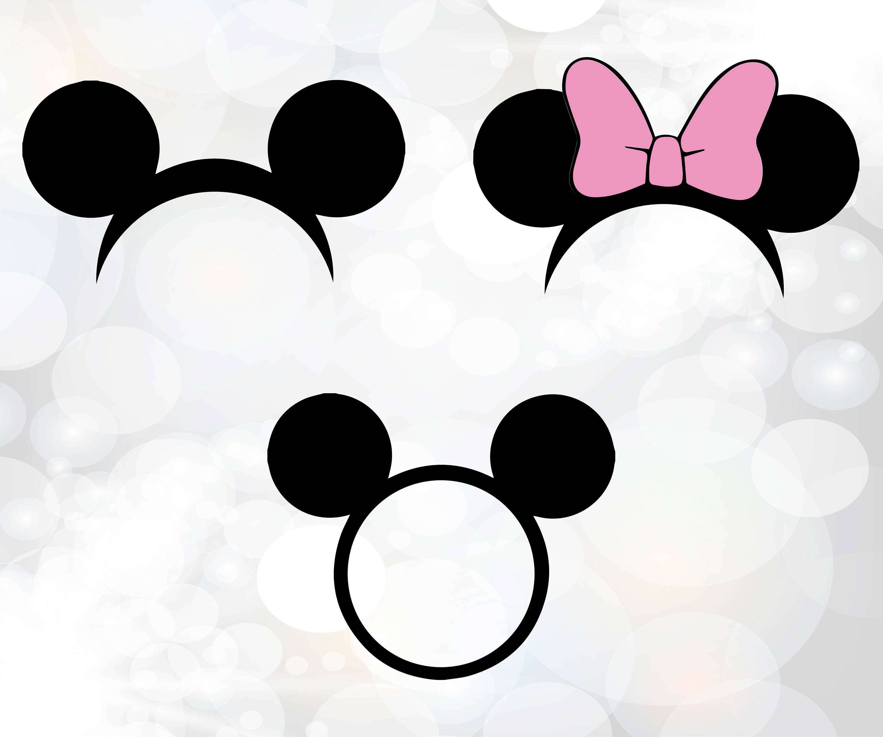 Circle Monogram Topper Minnie mouse svg Mouse Topper SVG