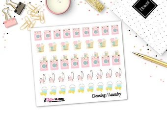 Cleaning | Chores | Laundry | Planner Stickers