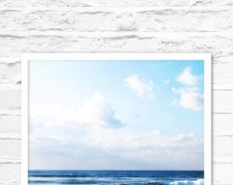 Ocean Print, Ocean Wall Art, Ocean Photography, Coastal Art Print, Ocean Water, Beach Printable, Ocean Pic, Beach Print Art