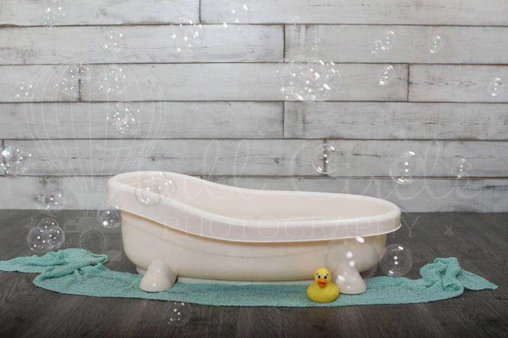 Baby Bath Digital Backdrop/Props Newborn Photography Prop.