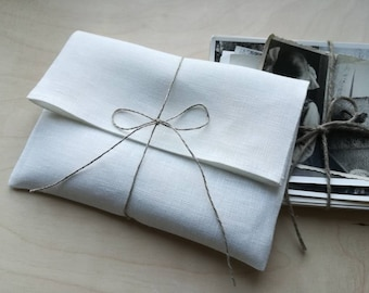 """4.5""""x6.5"""" Set of 20-30 Photo/Picture/Card/Jewelry linen packaging. Linen envelopes. Linen bags. Favor bags.Ecco wedding.Picture wrapping."""