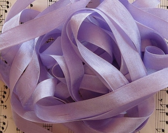 Pale Lilac Seam Binding Silky Rayon Seam Binding Ribbon - 9 yards PSS 0172