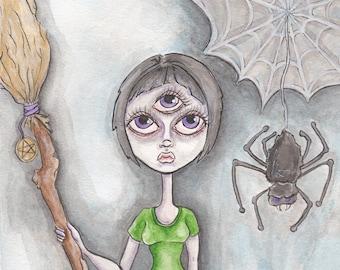 Three Eyed Witch (Original Painting)