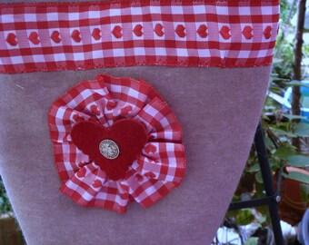 Costume bag, wool felt sand, shoulder bag, Oktoberfest, strap Red