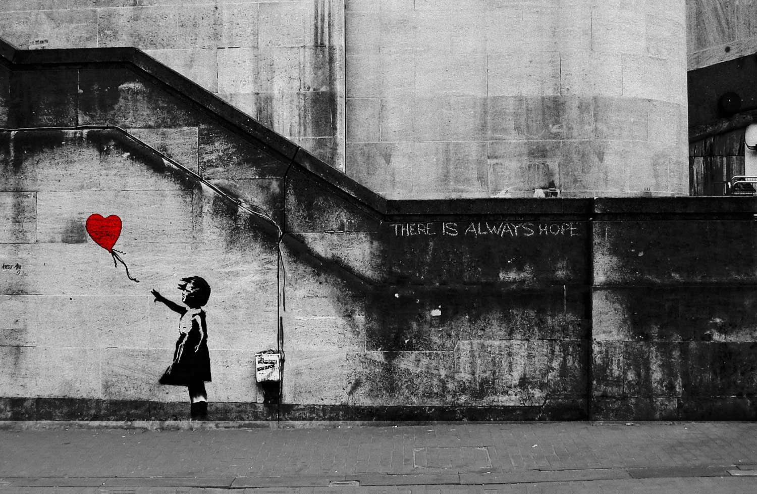 Banksy Canvas Girl With The Red Balloon There Is Always Hope