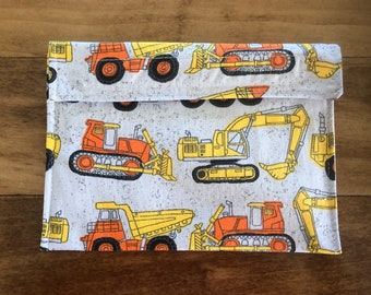 Tractors - Reusable Snack & Sandwich Bags