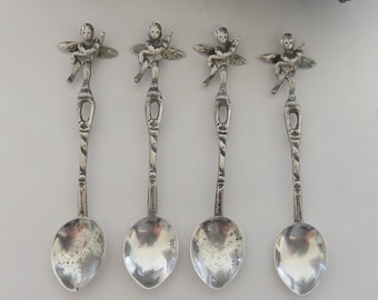 High Quality Antique Salt Cellar Spoons, 80% Silver   Not Sterling, Marked 800 In Bowl