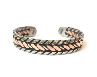 The Copper and Stainless Bracelets Handmade