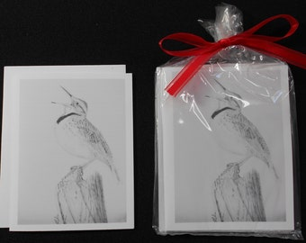 Singing Bird Notecard Set of 4
