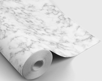 Faux Marble Peel and Stick Wallpaper | Peel and Stick Temporary Wallpaper | Removable Wall Sticker